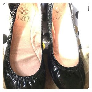 Vince Camuto size 4M patent leather flats